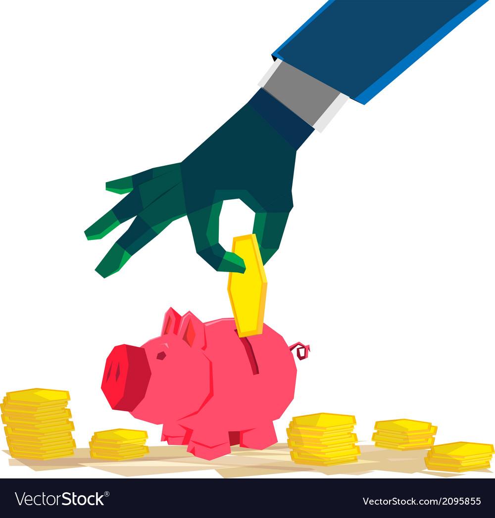 Investment pigmoneybox preview vector | Price: 1 Credit (USD $1)