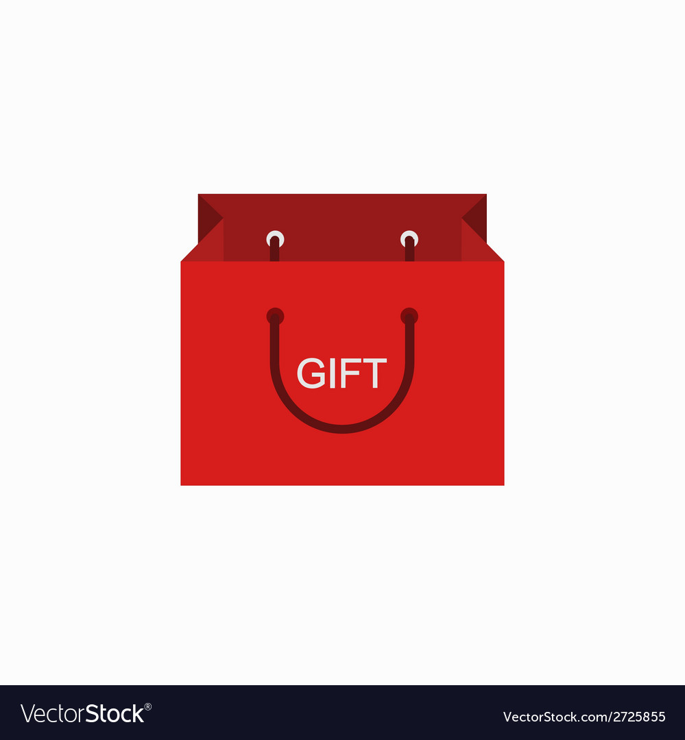 Modern shopping gift icon on white vector | Price: 1 Credit (USD $1)