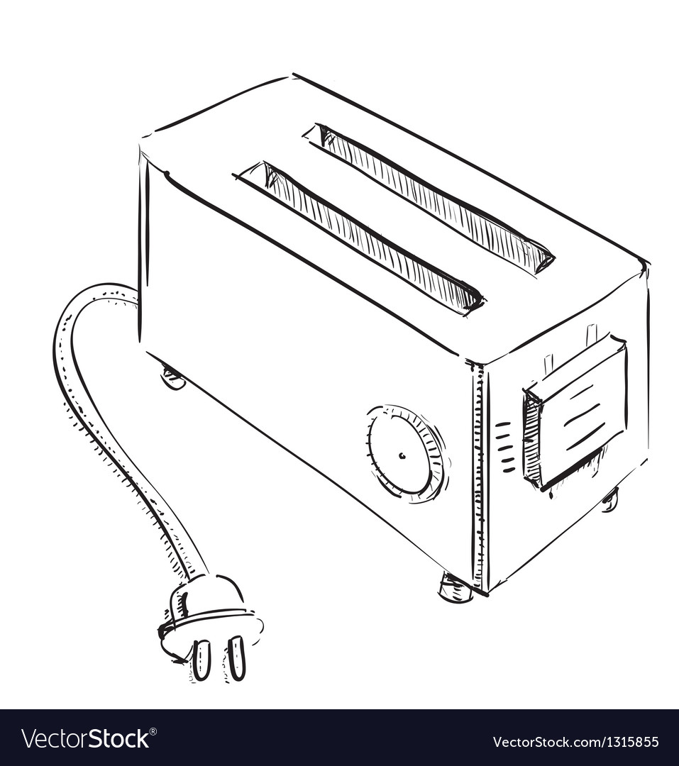 Retro old school toaster vector | Price: 1 Credit (USD $1)