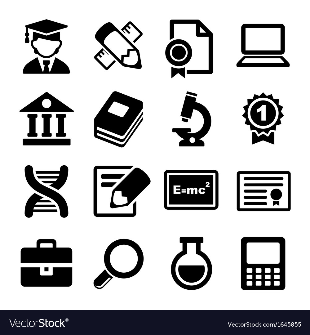 School and education icons set vector   Price: 1 Credit (USD $1)