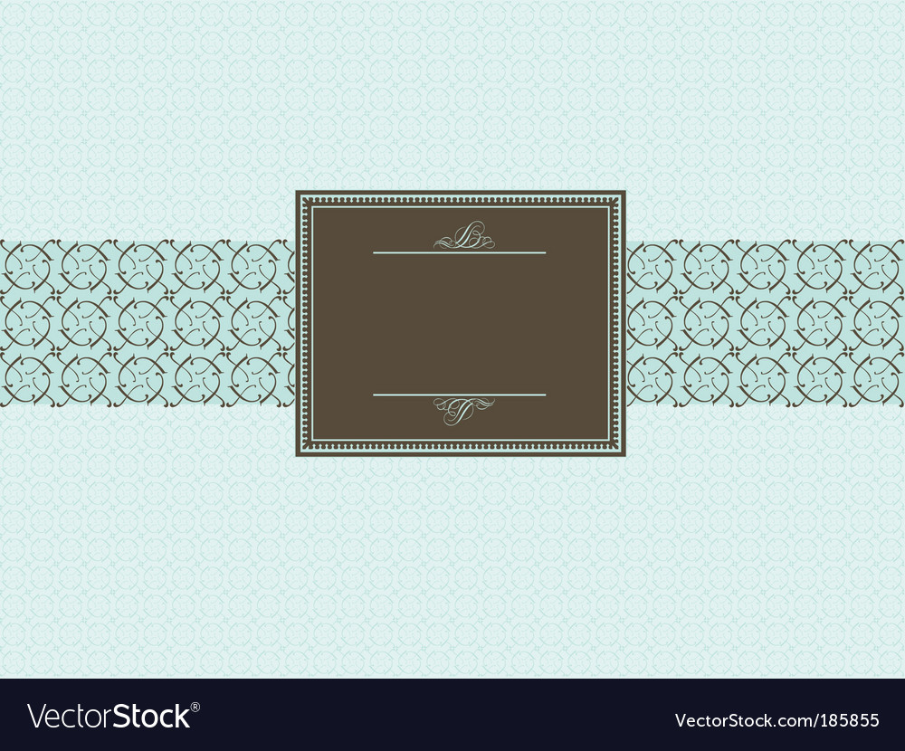 Seamless pattern and brown frame vector | Price: 1 Credit (USD $1)