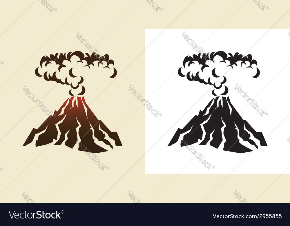 Volcano vector | Price: 1 Credit (USD $1)