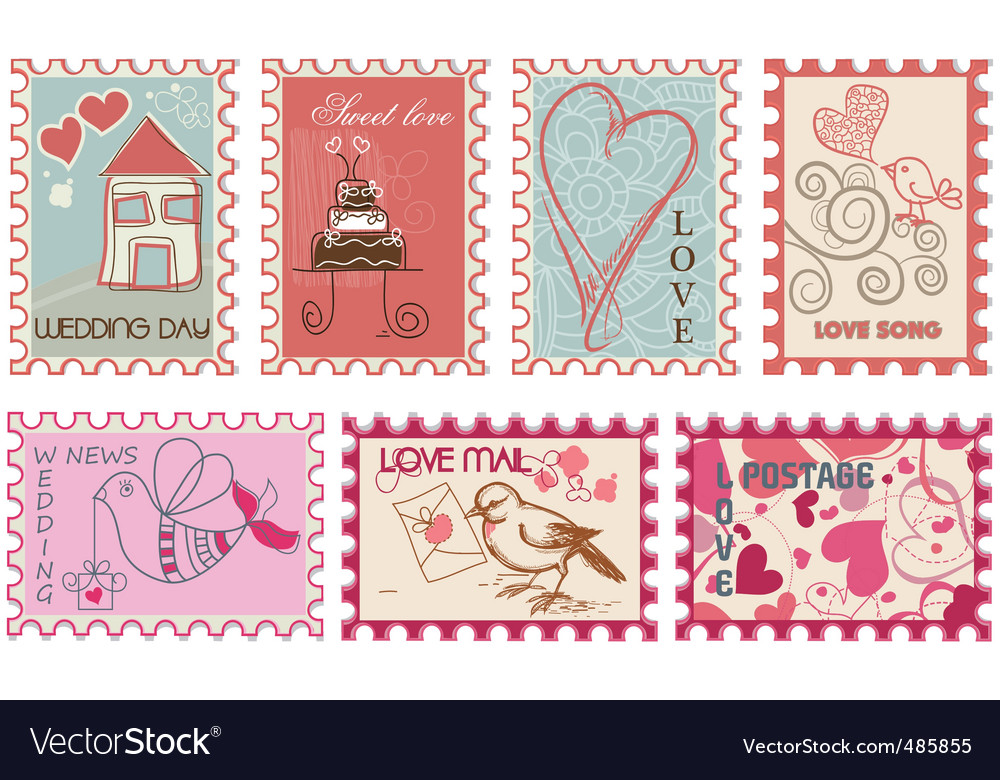 Wedding stamps vector | Price: 1 Credit (USD $1)