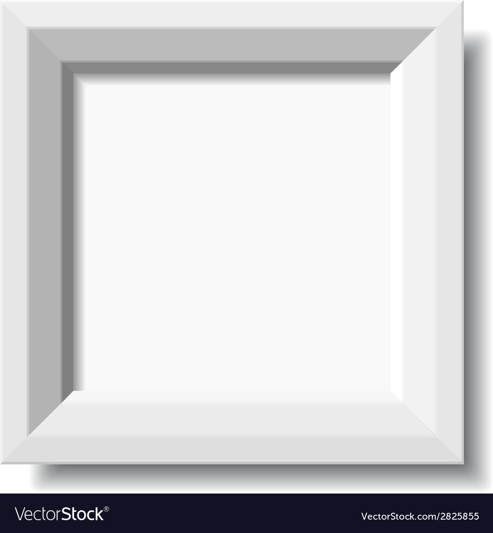 White stylish photo frame vector | Price: 1 Credit (USD $1)