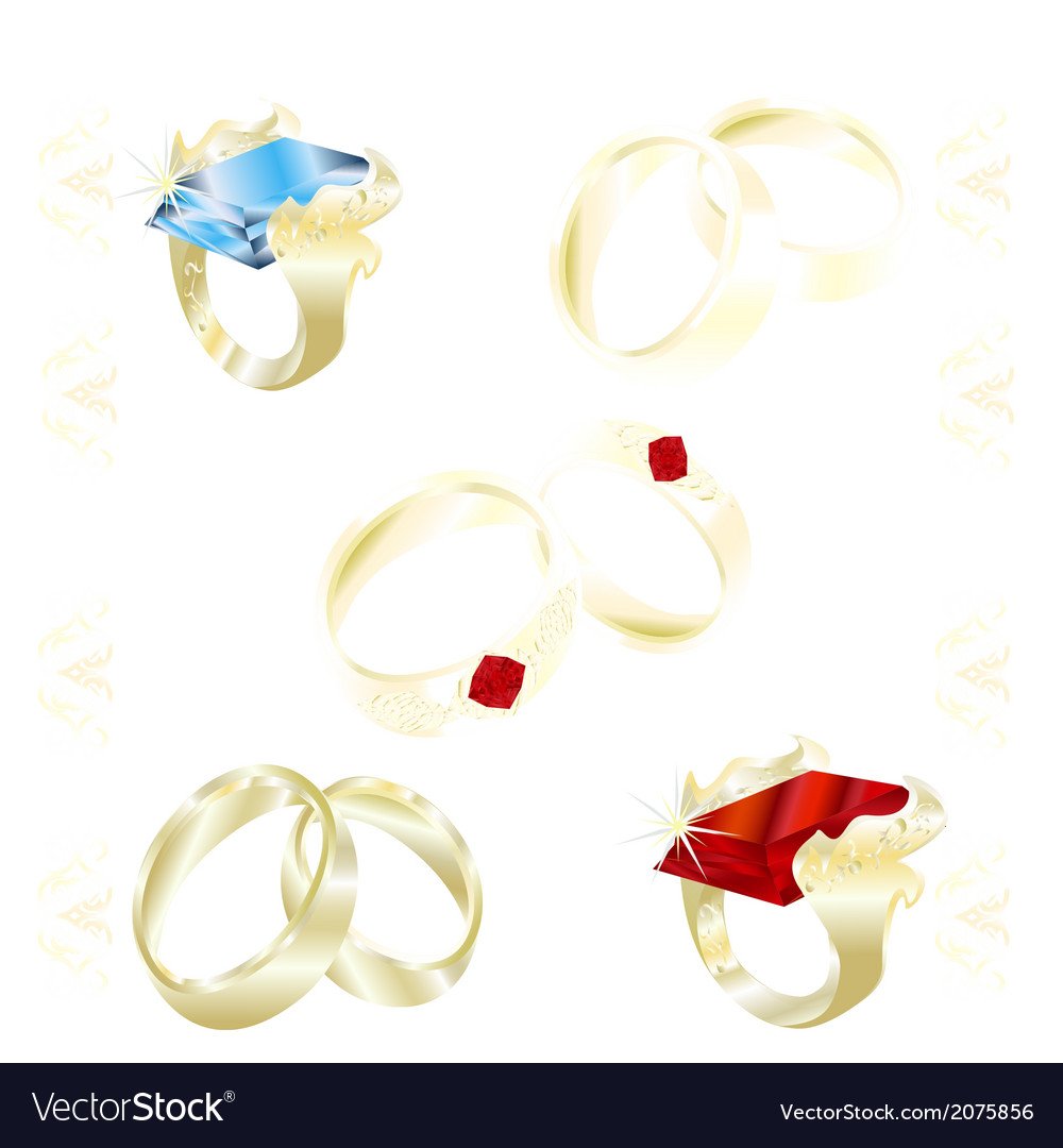 Assortment rings vector | Price: 1 Credit (USD $1)