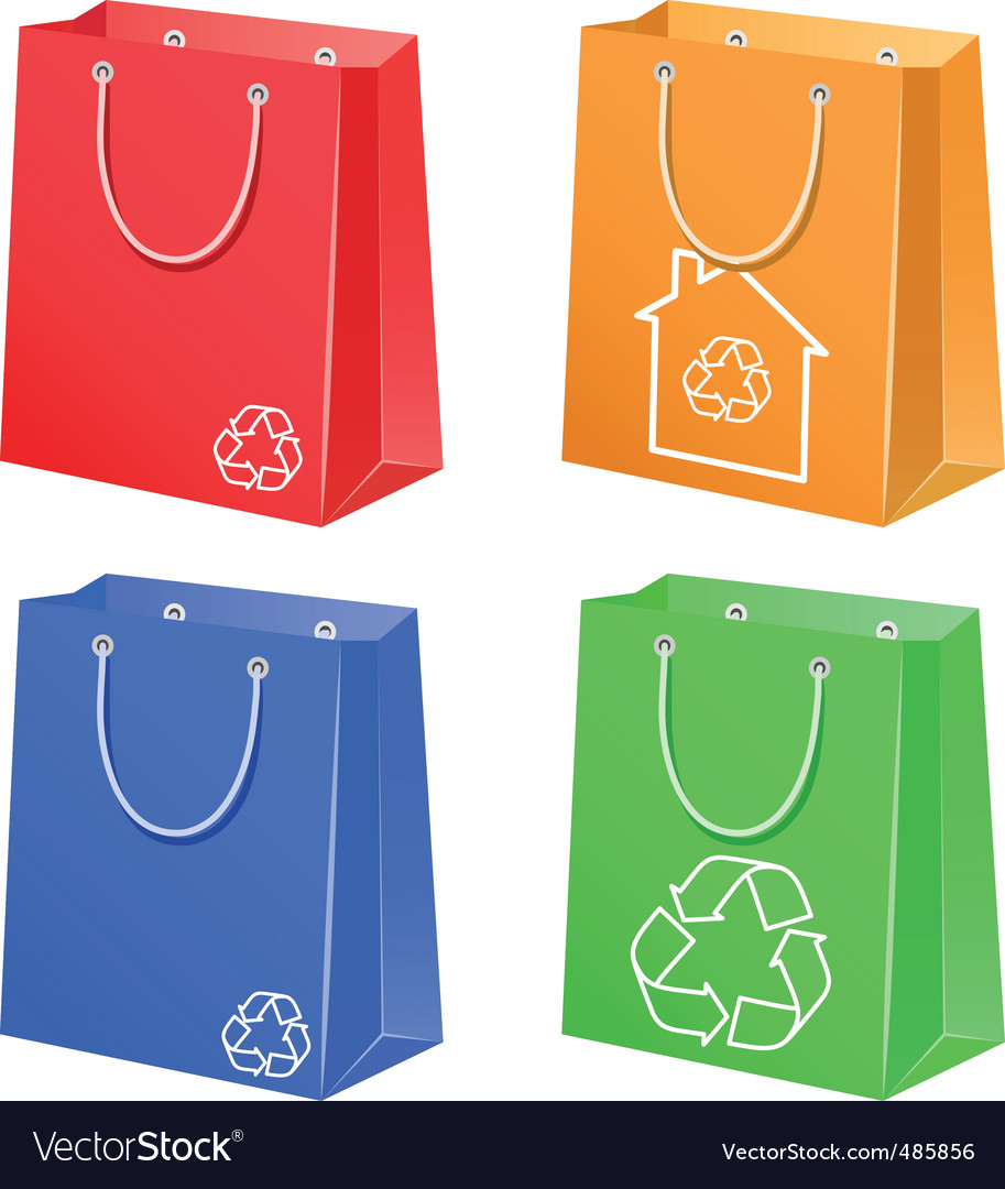 Bags with eco symbol vector | Price: 1 Credit (USD $1)