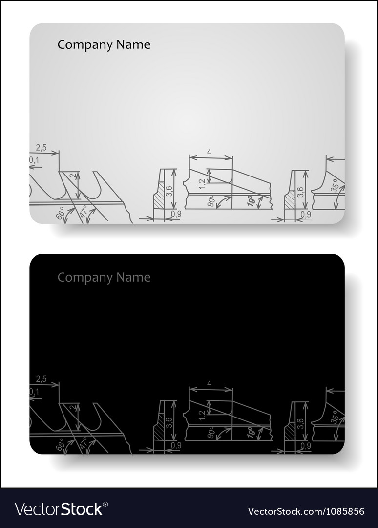 Business card for the engineer vector | Price: 1 Credit (USD $1)
