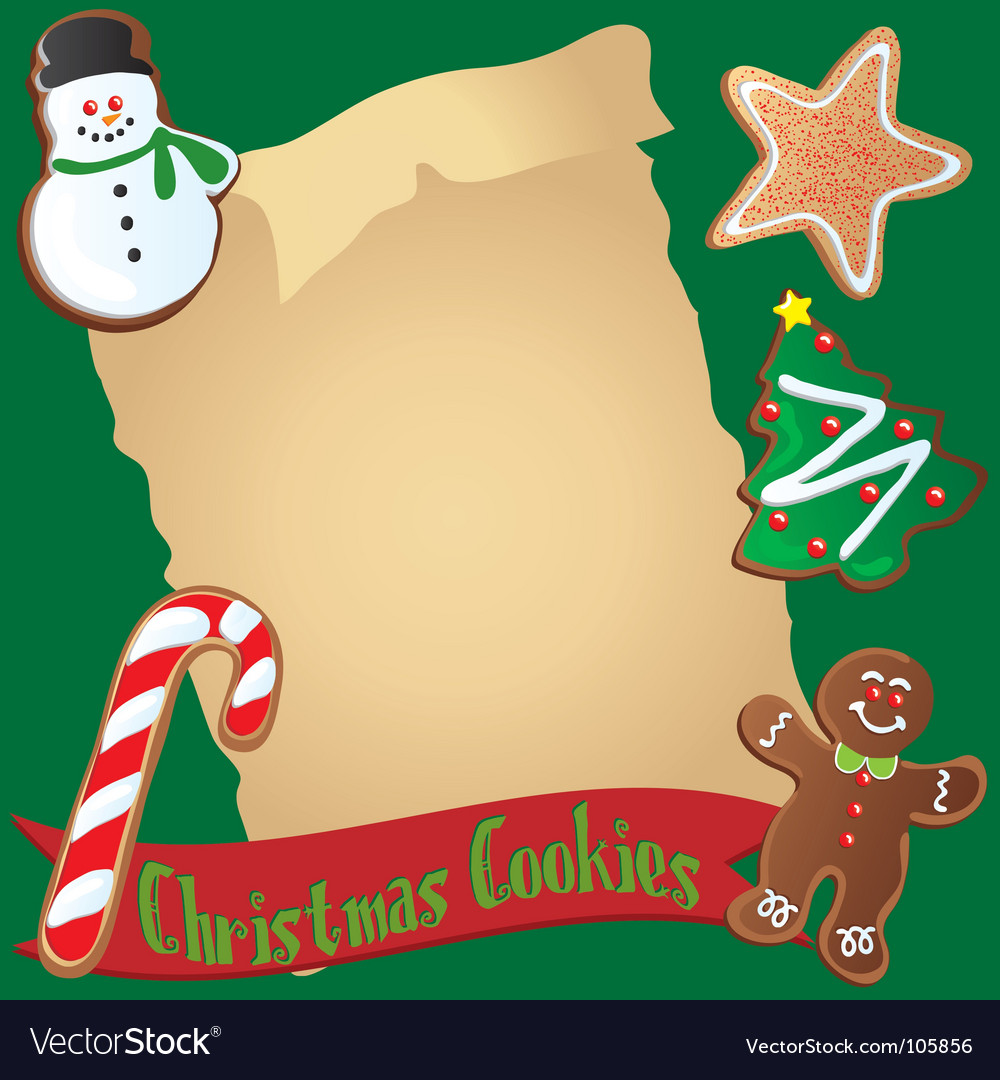 Christmas cookie recipe or invitation vector | Price: 1 Credit (USD $1)