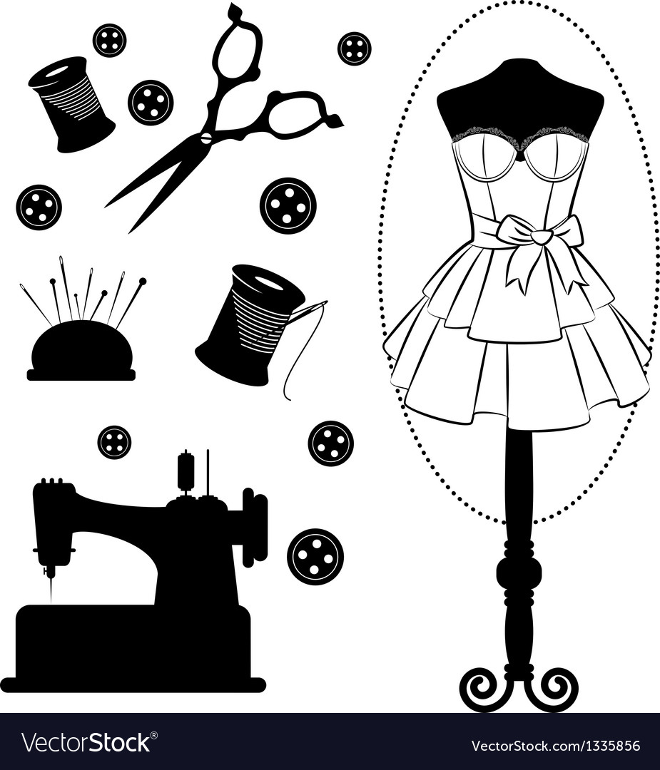 Fashion mannequin silhouettes vector | Price: 1 Credit (USD $1)