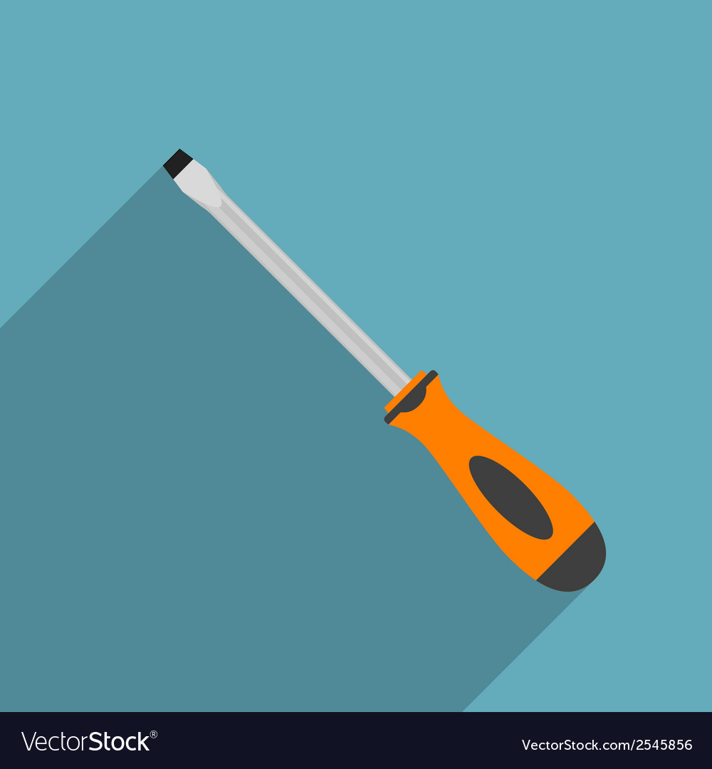 Flat screwdriver vector | Price: 1 Credit (USD $1)