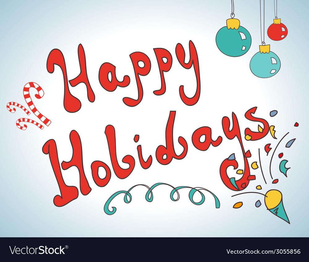 Happy holidays postcard design vector | Price: 1 Credit (USD $1)