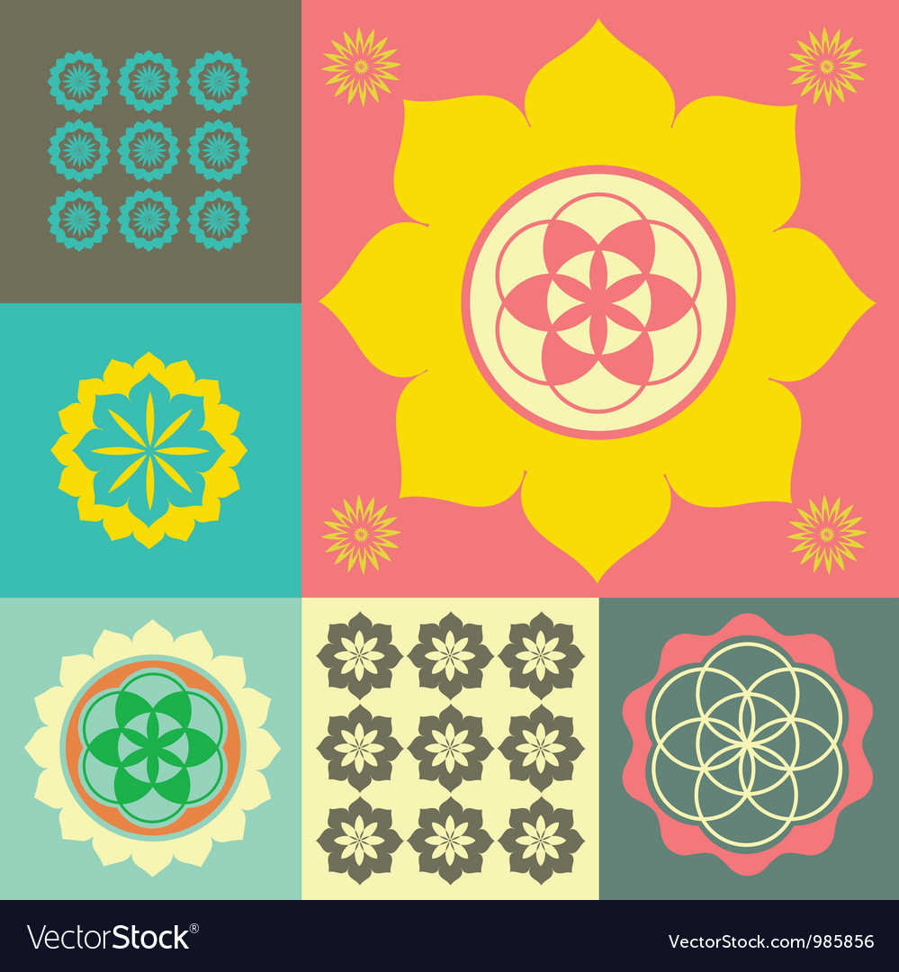 Life flower ornament vector | Price: 1 Credit (USD $1)