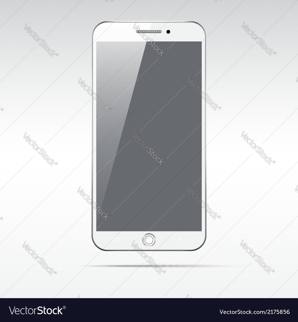 Modern touchscreen smartphone isolated on light vector   Price: 1 Credit (USD $1)
