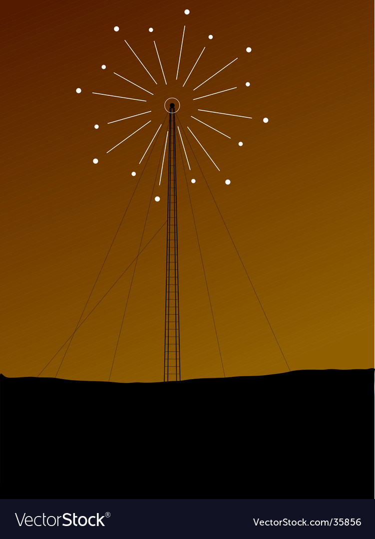 Phone mast signal vector | Price: 1 Credit (USD $1)