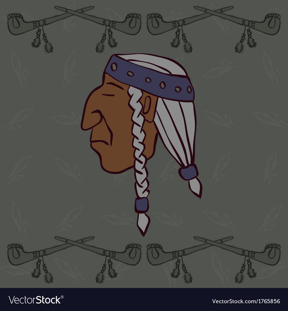 Red indian head vector | Price: 1 Credit (USD $1)