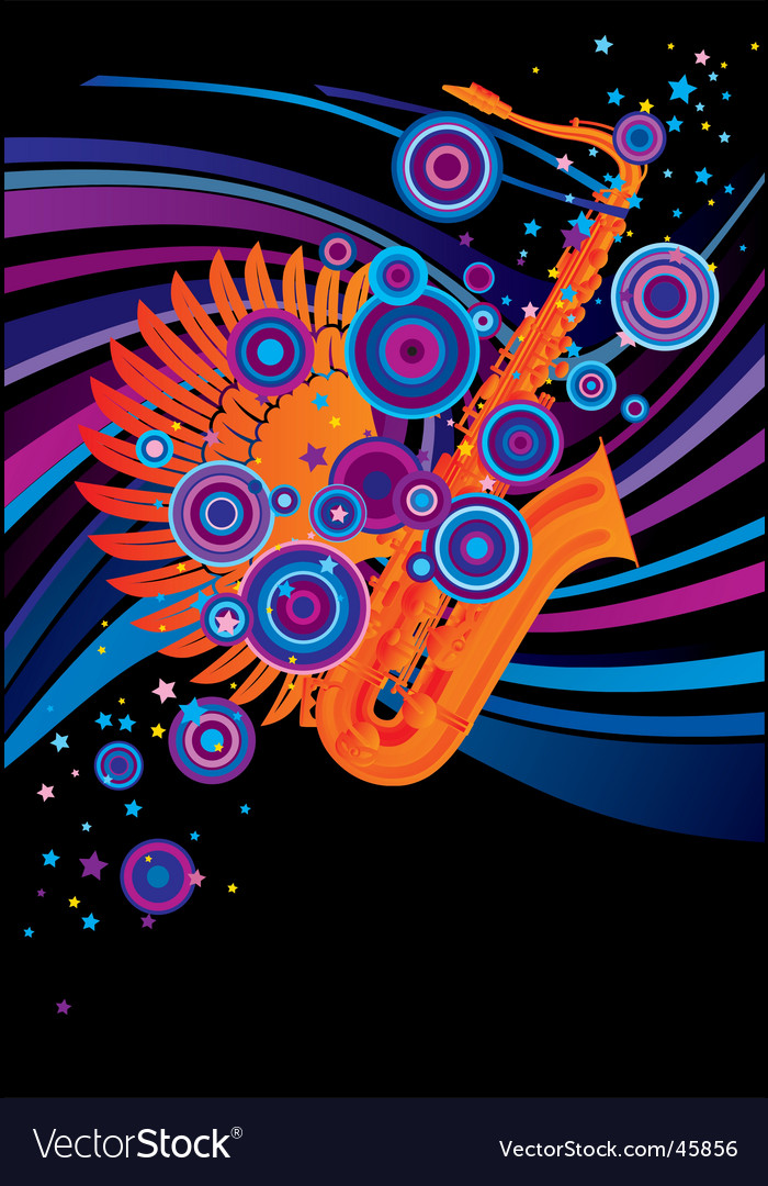 Saxophone poster vector | Price: 1 Credit (USD $1)
