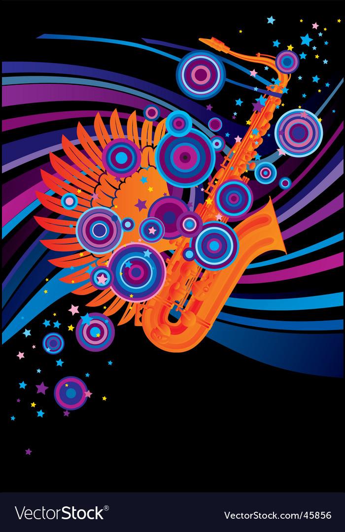 Saxophone poster vector | Price: 1 Credit (USD $1)