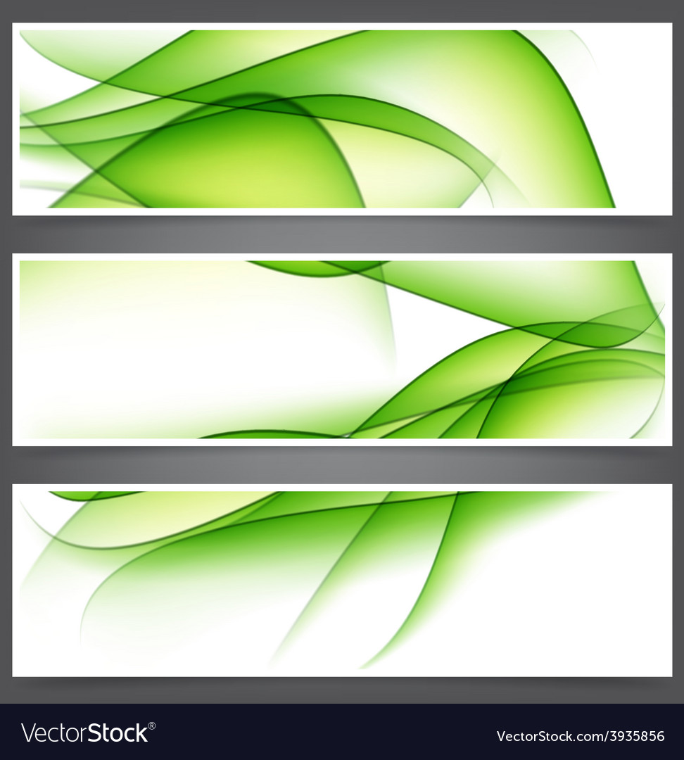 Set of abstract green banners vector | Price: 1 Credit (USD $1)