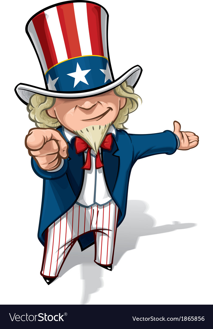 Uncle sam i want you presenting vector | Price: 3 Credit (USD $3)