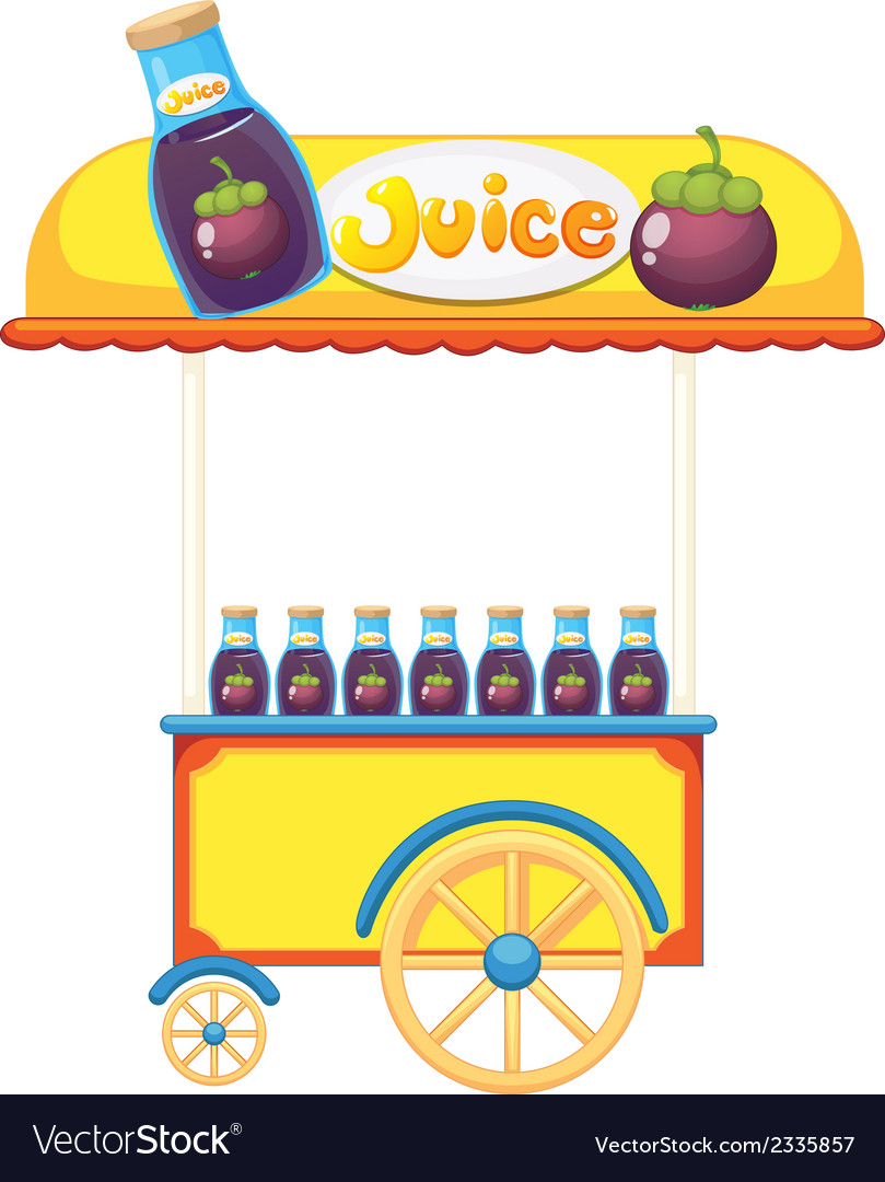 A pushcart selling fruit juice vector | Price: 1 Credit (USD $1)