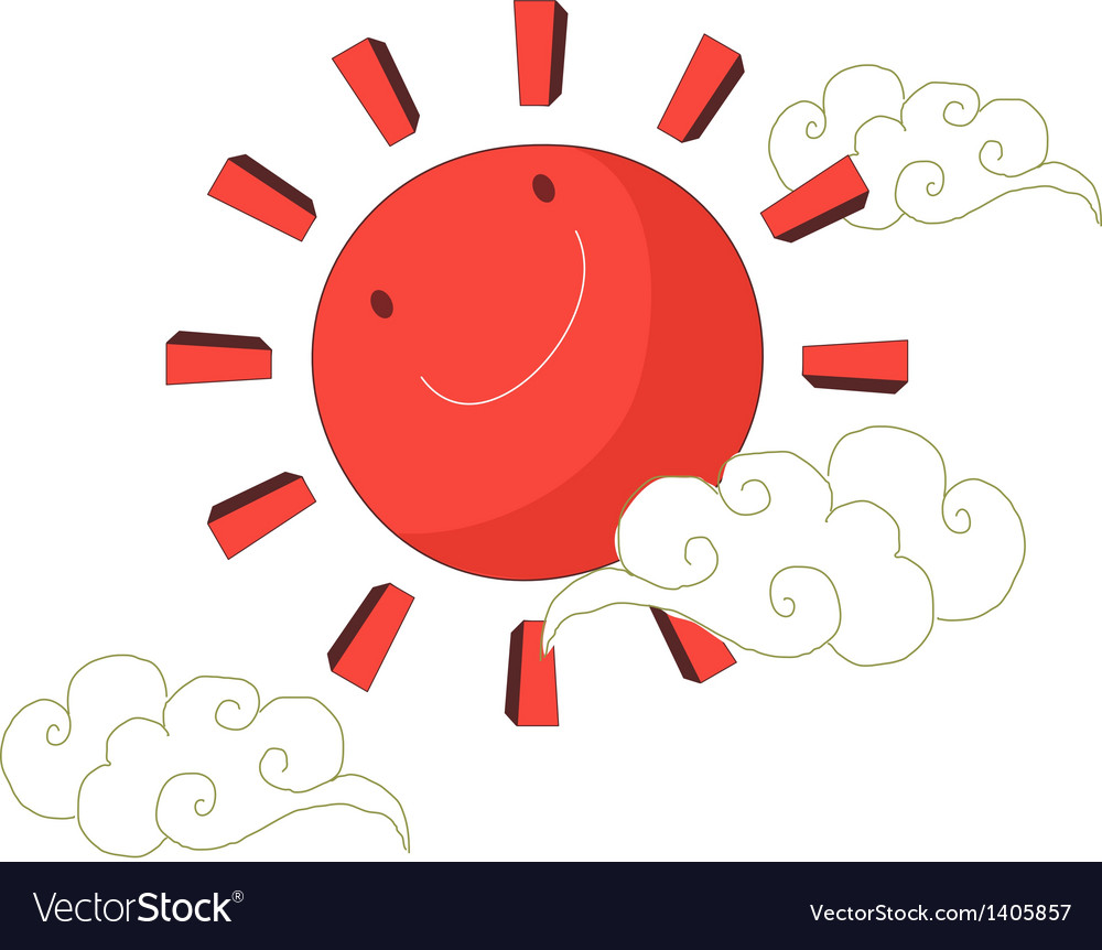 A view of sun vector | Price: 1 Credit (USD $1)