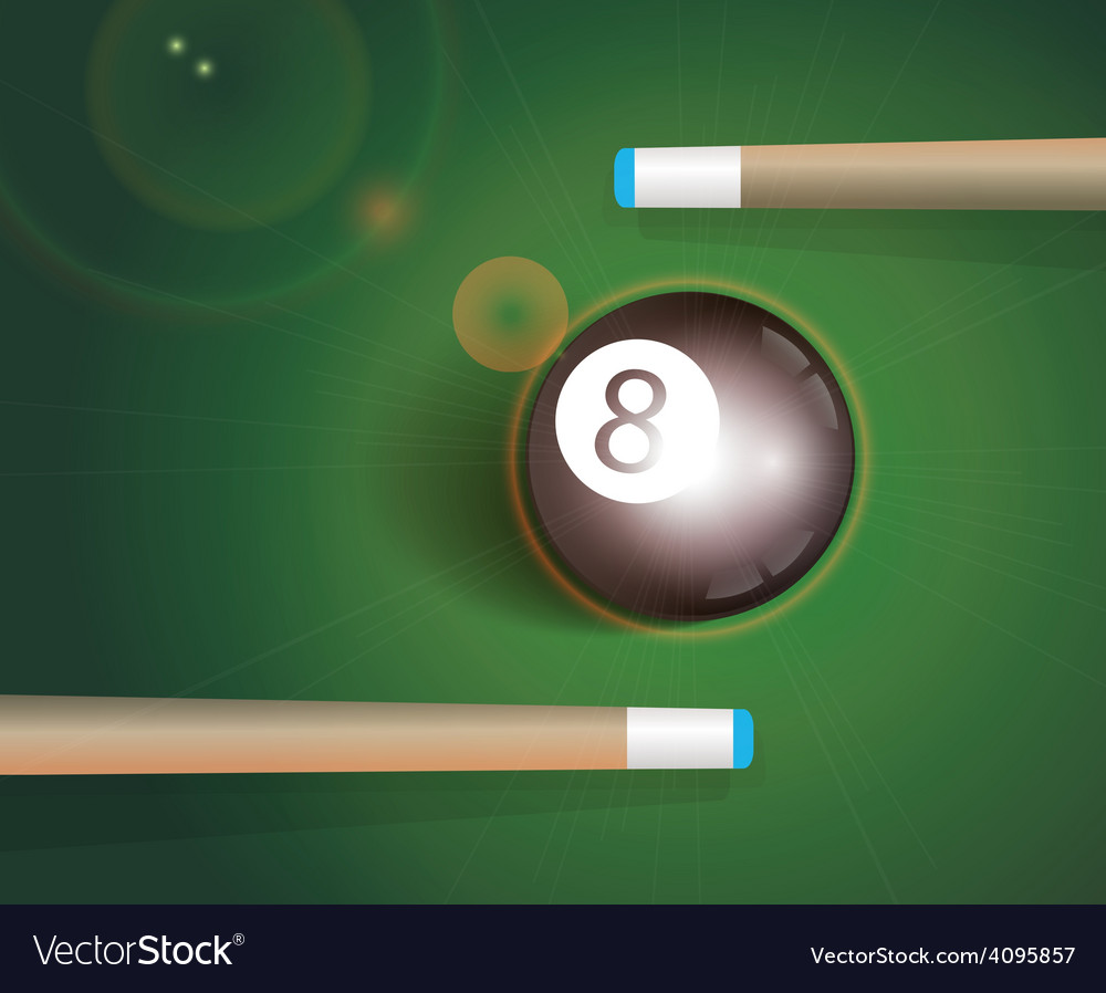 The eight ball billiard background vector | Price: 1 Credit (USD $1)