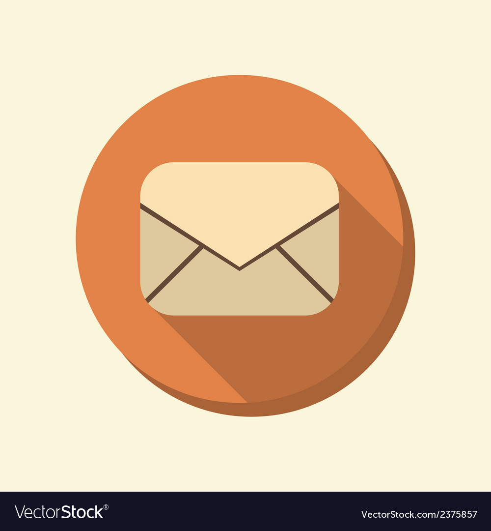 Flat web icon postal envelope vector | Price: 1 Credit (USD $1)