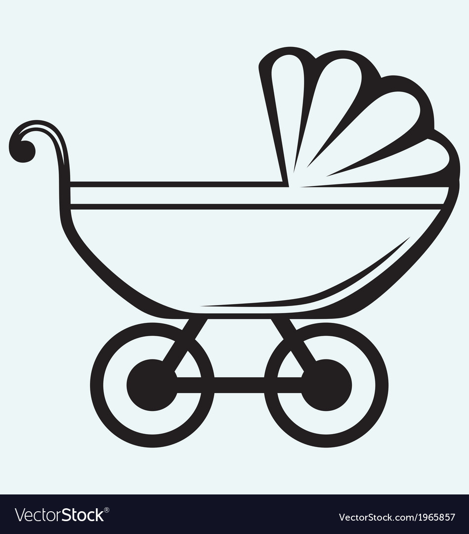 Pram baby carriage vector | Price: 1 Credit (USD $1)