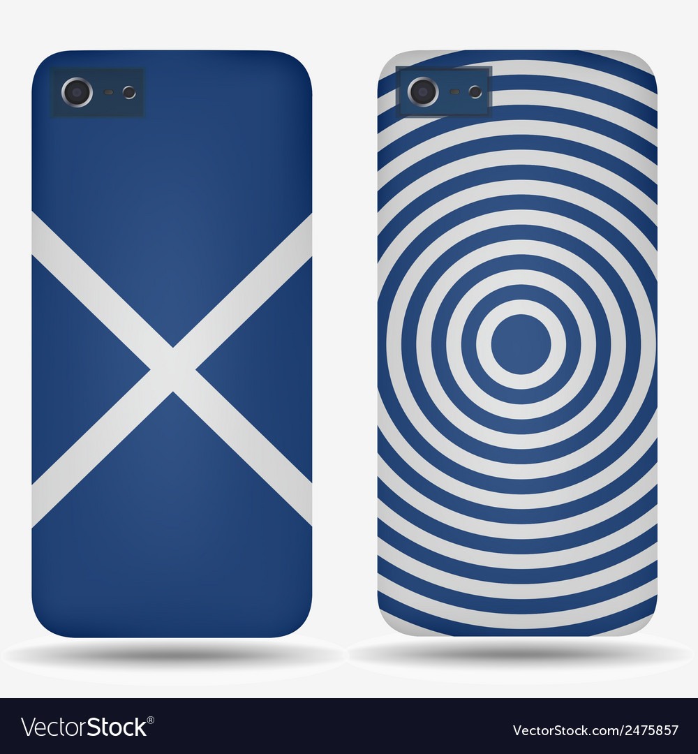 Rear covers smartphone with flags of scotland vector | Price: 1 Credit (USD $1)