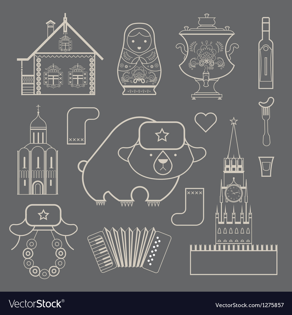 Russian icons vector | Price: 3 Credit (USD $3)