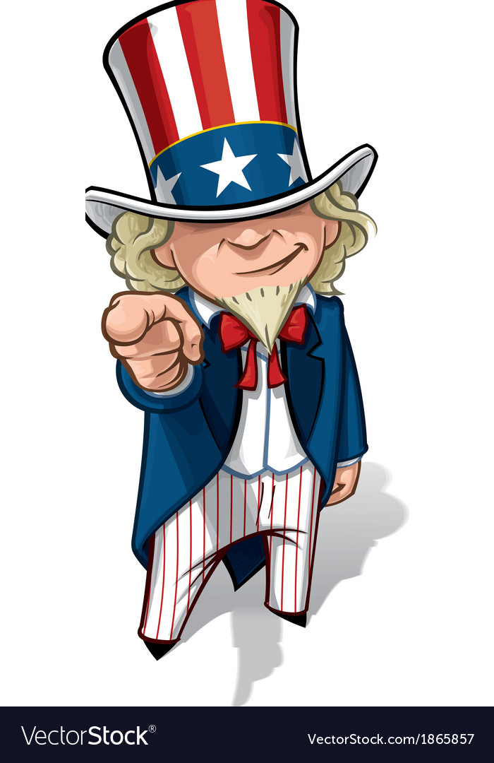 Uncle sam i want you vector | Price: 3 Credit (USD $3)