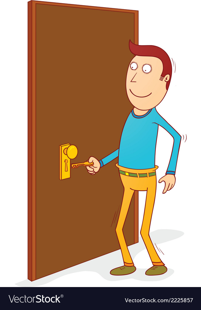 Unlocking the door vector | Price: 1 Credit (USD $1)