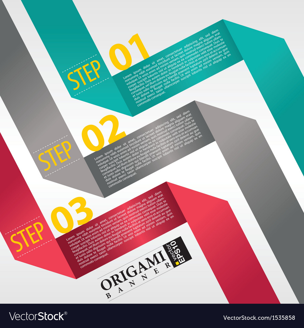 Abstract banner in three step vector | Price: 1 Credit (USD $1)