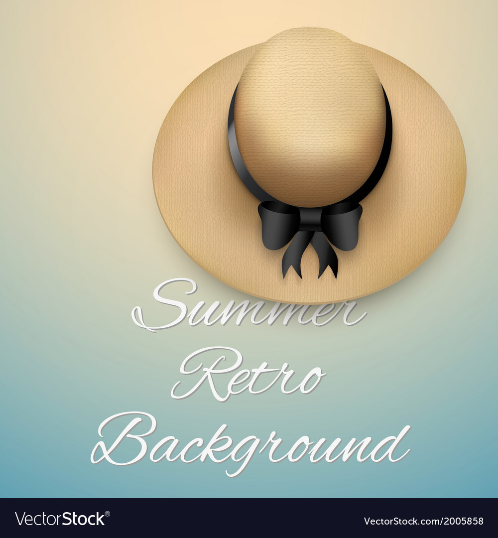 Background of summer time and beach hat vector | Price: 1 Credit (USD $1)