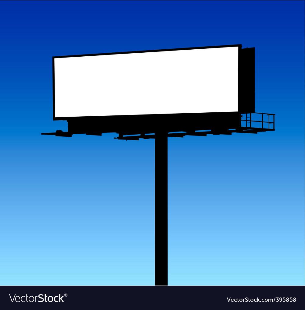 Blank billboard vector   Price: 1 Credit (USD $1)