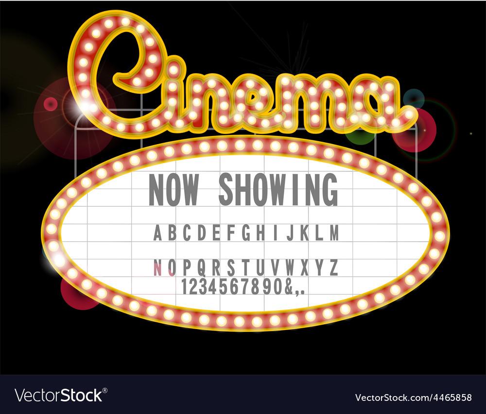 Cinema sign vector | Price: 1 Credit (USD $1)