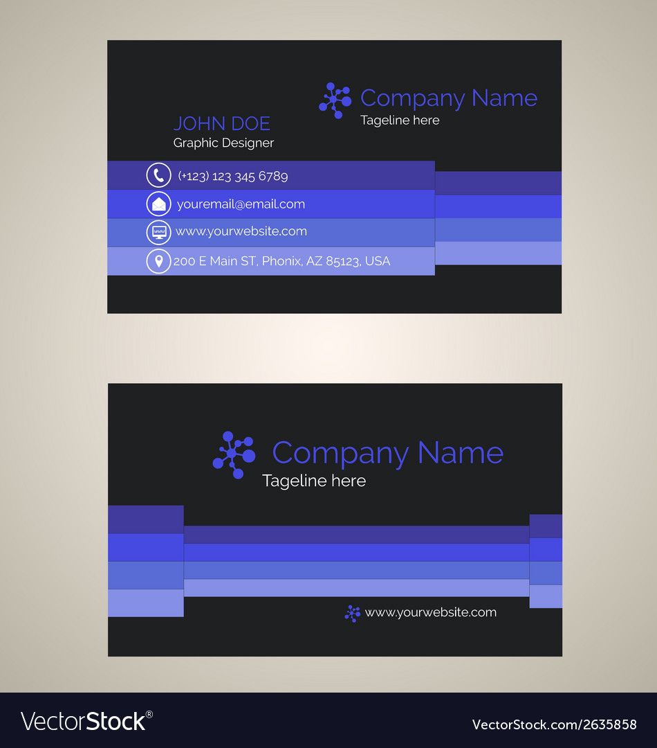 Corporate business card v 3 vector | Price: 1 Credit (USD $1)