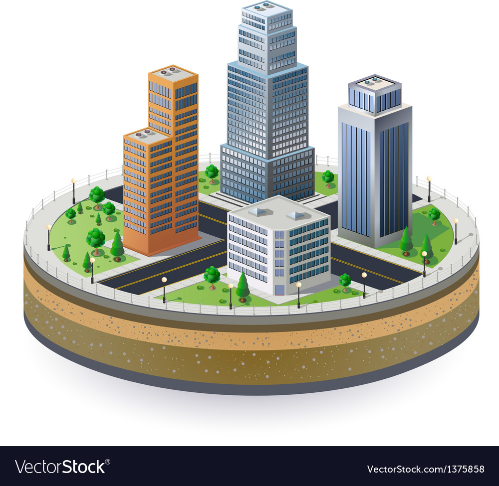 Fragment of the city vector | Price: 1 Credit (USD $1)