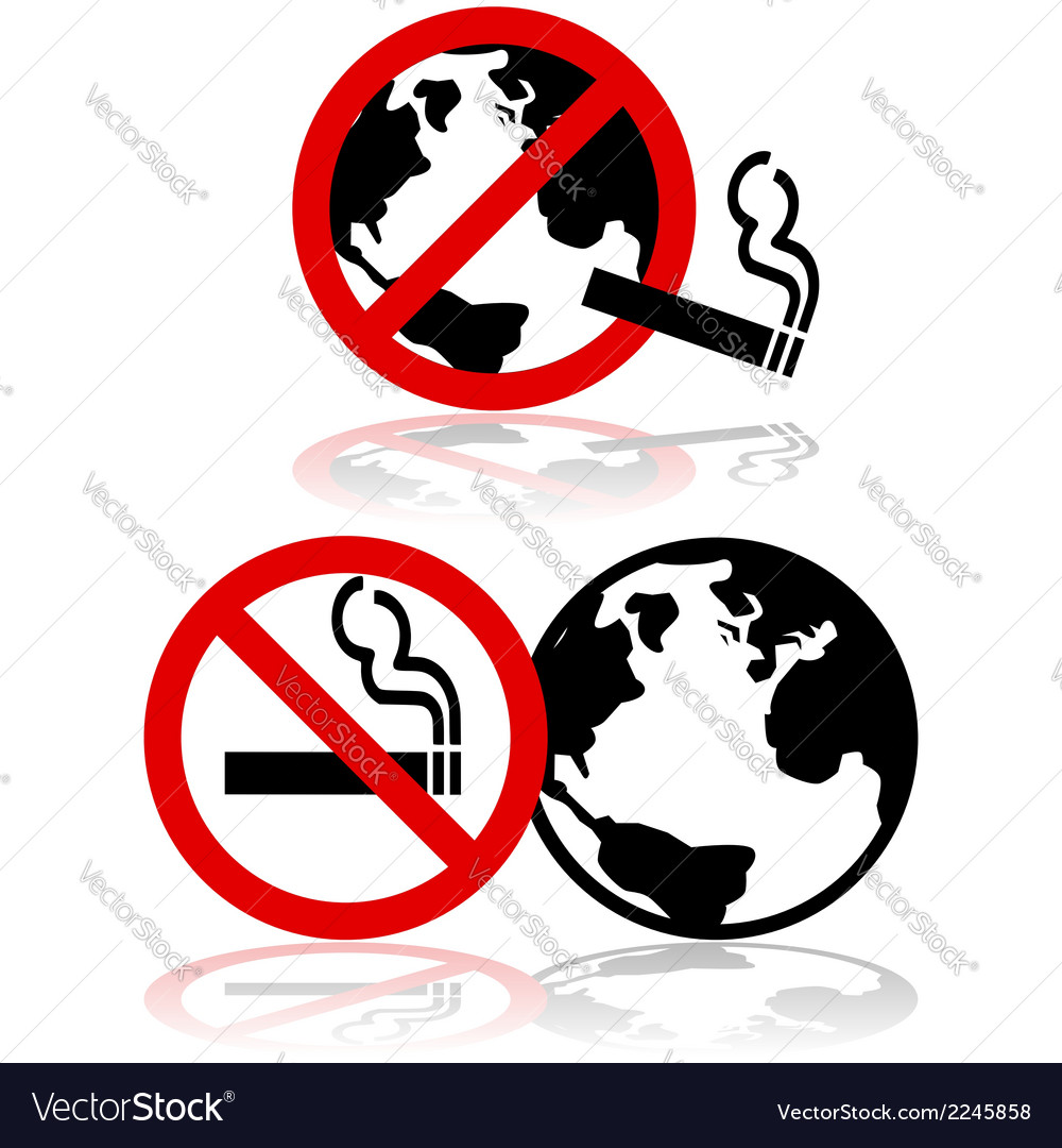 Global no smoking vector | Price: 1 Credit (USD $1)