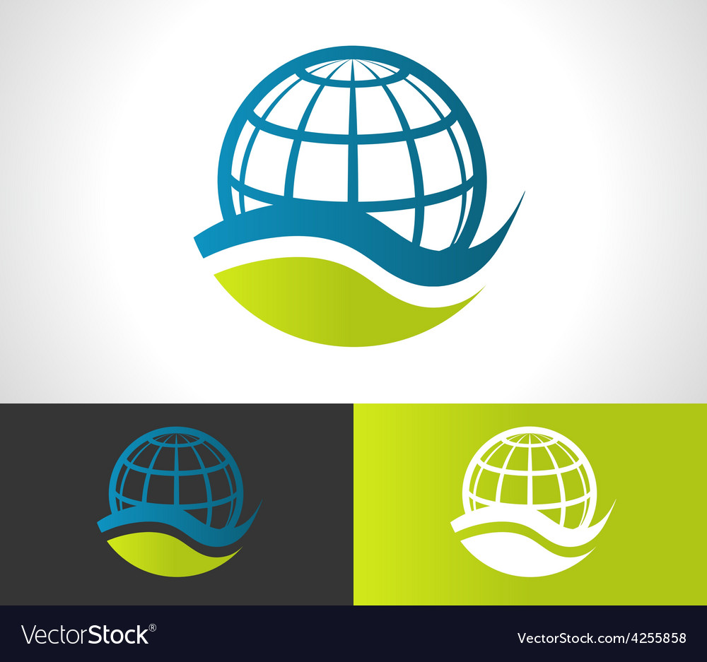 Green eco globe icon vector | Price: 1 Credit (USD $1)
