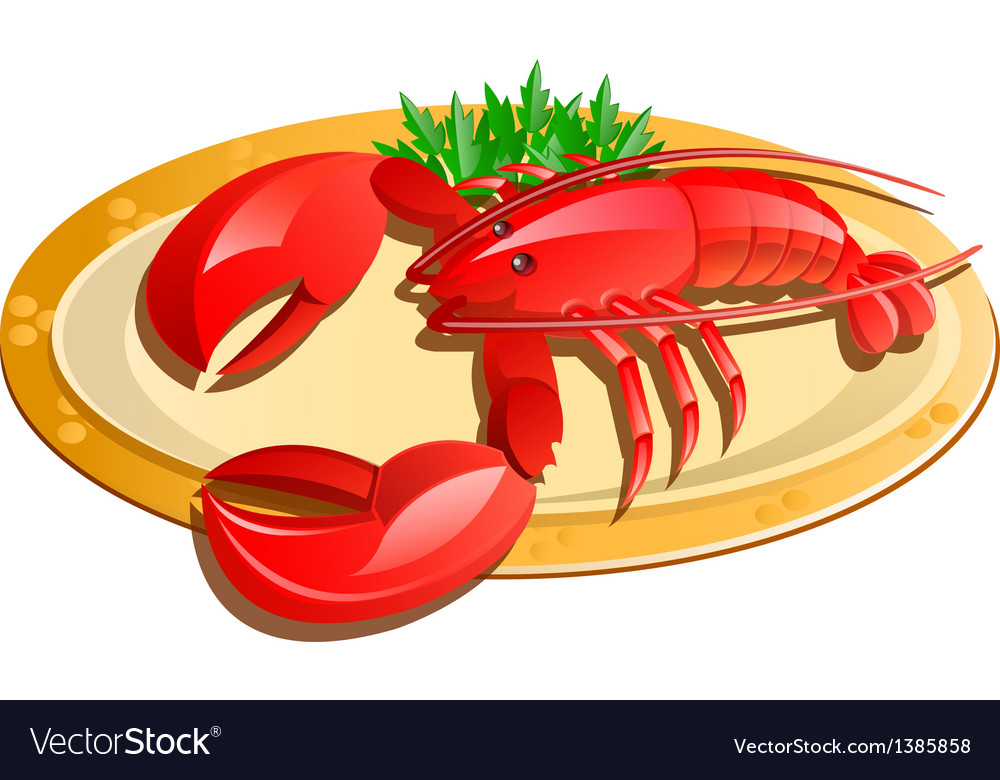 Icon lobster vector | Price: 1 Credit (USD $1)