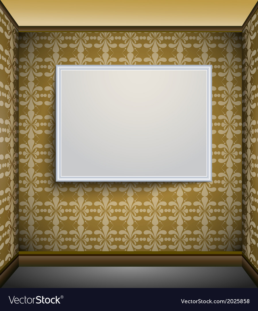 Interior with blank canvas vector | Price: 1 Credit (USD $1)
