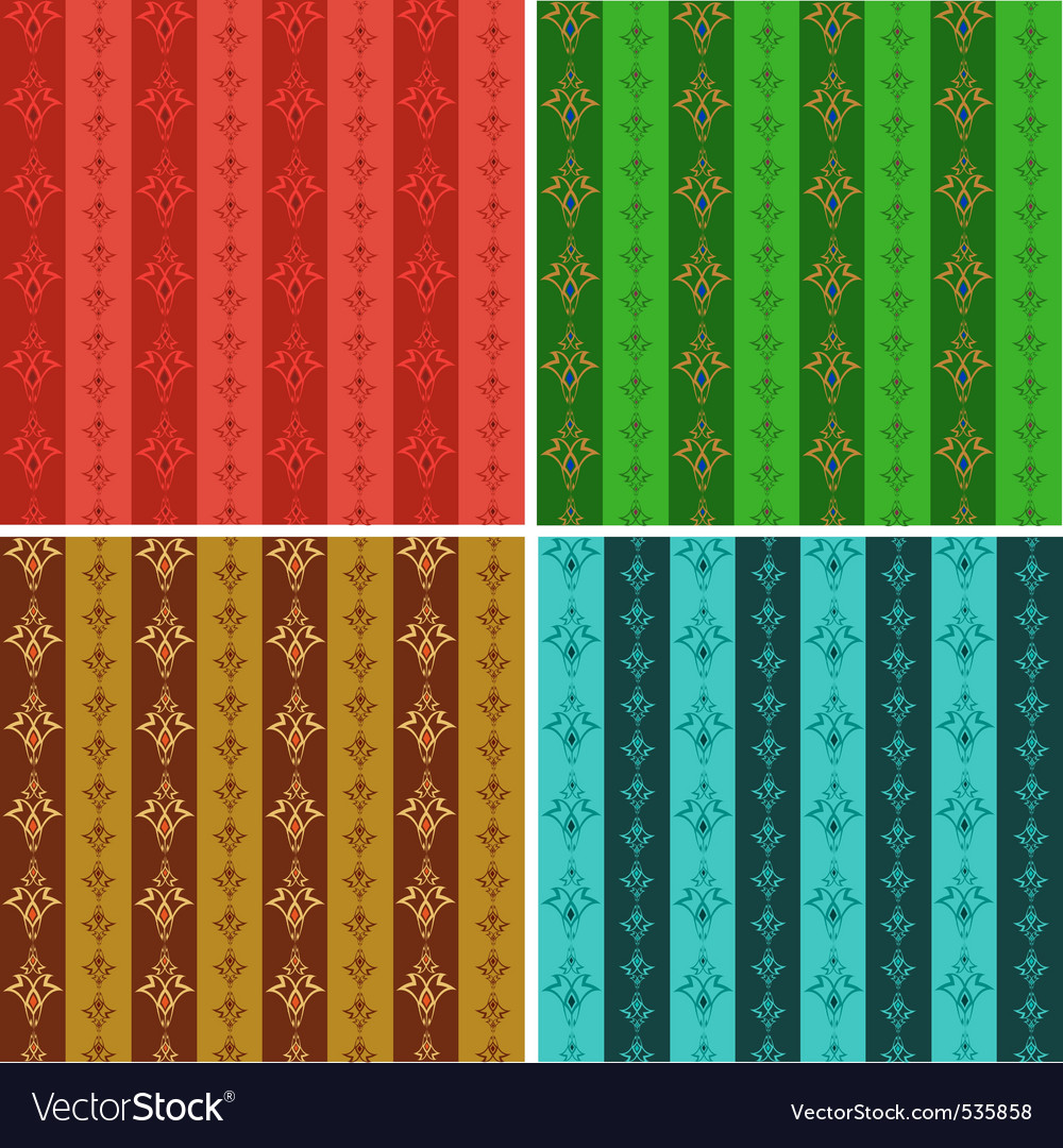 Set from abstract seamless wallpaper in different vector | Price: 1 Credit (USD $1)