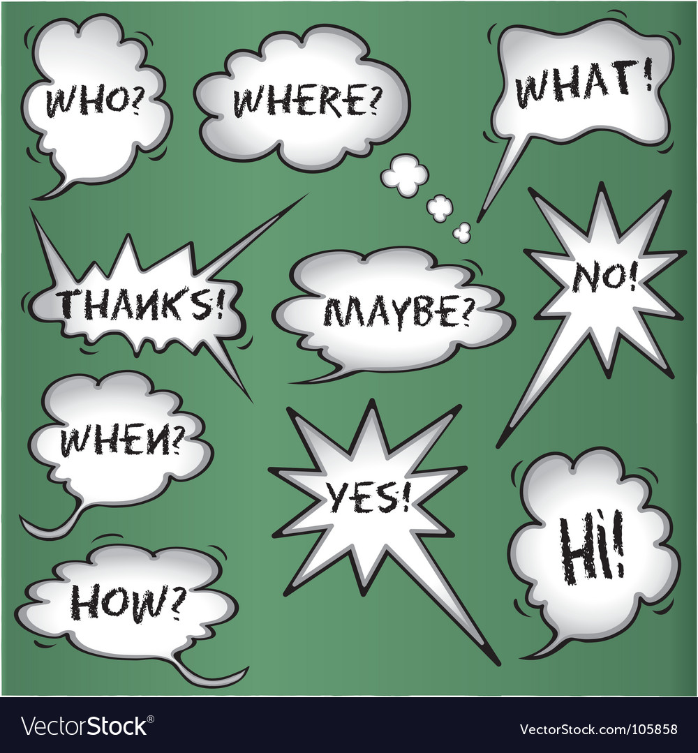 Though and speech bubbles vector | Price: 1 Credit (USD $1)