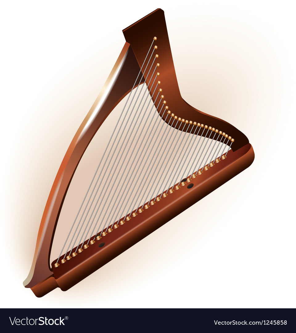 Traditional irish celtic harp vector | Price: 1 Credit (USD $1)