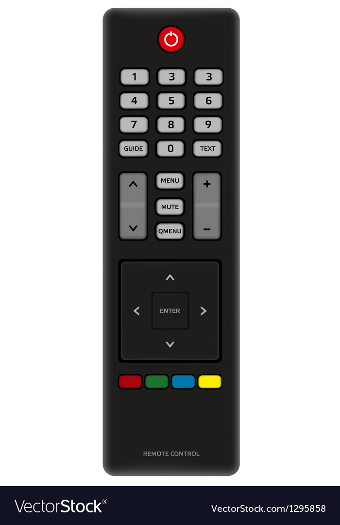 Tv remote control vector | Price: 1 Credit (USD $1)