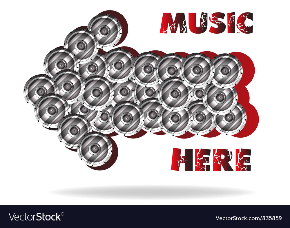 The abstract advertizing of music vector | Price: 1 Credit (USD $1)