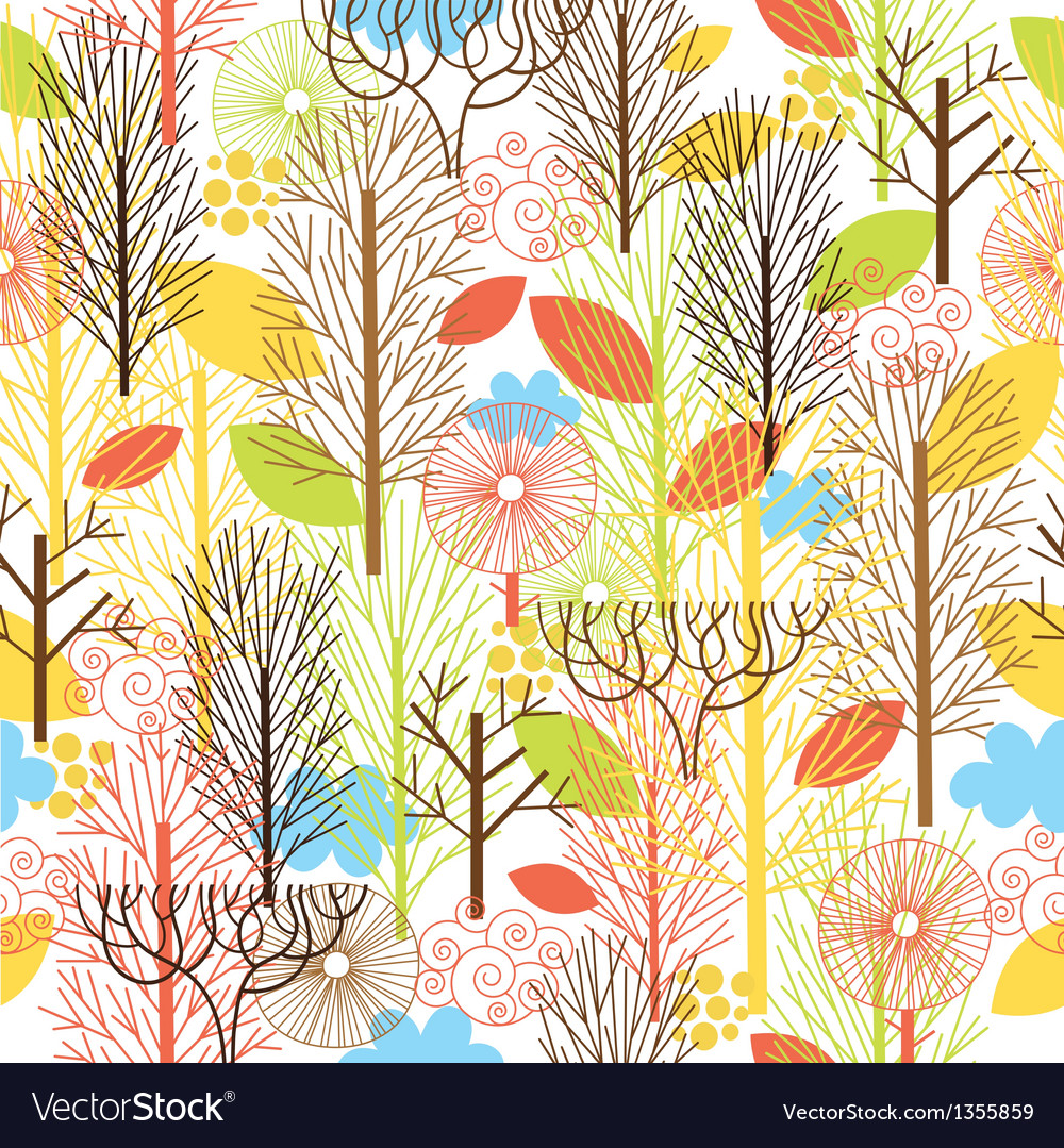 Autumn forest seamles pattern vector | Price: 1 Credit (USD $1)