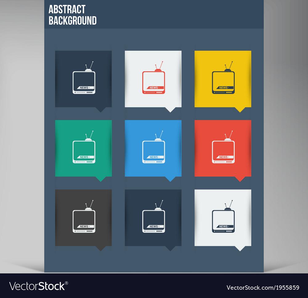 Flat ui design trend icons vector | Price: 1 Credit (USD $1)