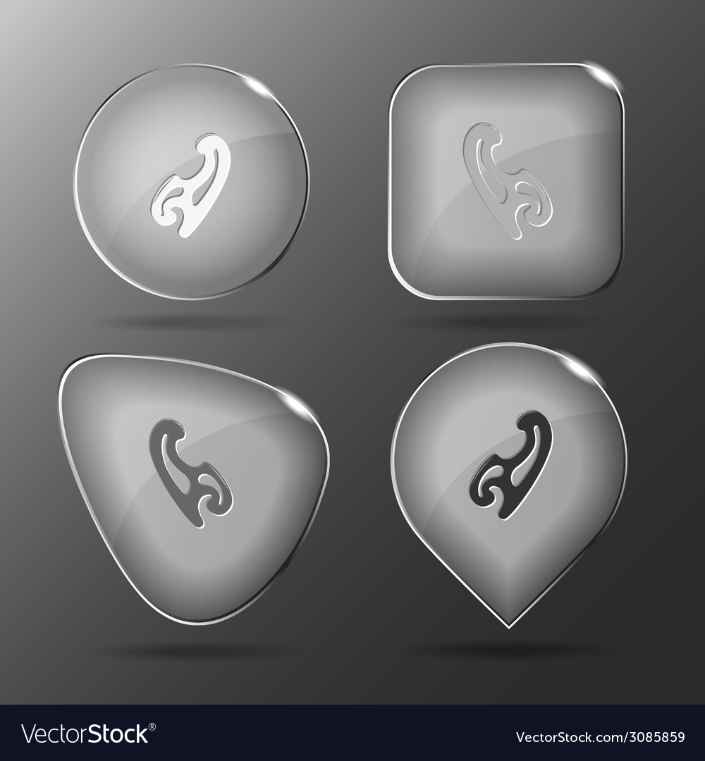 French curve glass buttons vector | Price: 1 Credit (USD $1)